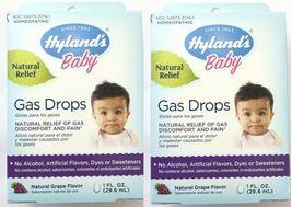 2 x Hyland's Baby Gas Drops Natural Grape Flavor - 1 fl. oz.  - 2 Total - $13.89