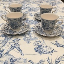 Nikko Blossom Time Tea Rose Cup & Saucer Blue &White excellent condition set  4 - $46.55