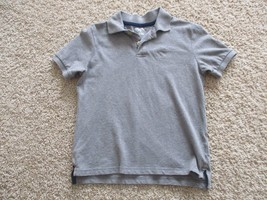 Arizona short sleeve polo t-shirt, boys, S(8), 100% cotton, pre-owned, grey - $1.97
