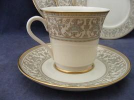 Gorham Larenzo De Medici Green Gold Trim Cup & Saucer Near Mint - $16.00
