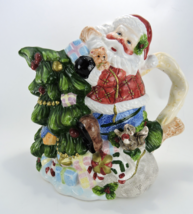 "Large Santa Claus Pitcher Christmas Figural Ceramic 10"" 2000 SH - $19.99"