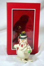 """Lenox 2019 Downhill Snowman 3 1/2"""" Tall Christmas Ornament New In Box - $11.08"""