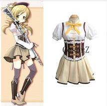 Puella Magi Madoka Magica Tomoe Mami Cosplay Costume - $92.00
