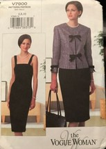 Vogue V7900 Vogue Woman Jacket And Dress Sewing Pattern Uncut Sizes 6-10 - $23.49