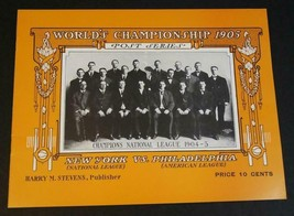 1905 Baseball World Championship NY Giants v Philadelphia A's Ltd. Ed. R... - $9.89