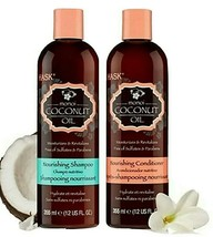 Hask Coconut Monoi Oil Nourishing Shampoo + Conditioner 12oz Each FREE S... - $27.71