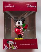 Walt Disney MICKEY MOUSE w/ PRESENT HALLMARK CHRISTMAS HOLIDAY ORNAMENT NEW - $14.85