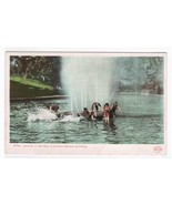 Bathing Pool People Glenwood Springs CO 1910c postcard - $4.46
