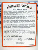 JOHNSON'S Foot Soap Soak Powder Borax, Iodide, & Bran Packets 4 Each image 2
