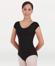 Body Wrappers BWC120 Girl's Large 12-14 (Fits 8-10) Black Short Sleeve Leotard - $9.89