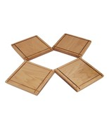 Square Coasters (Set of 4) Handcrafted from Maple Hardwood - $18.00