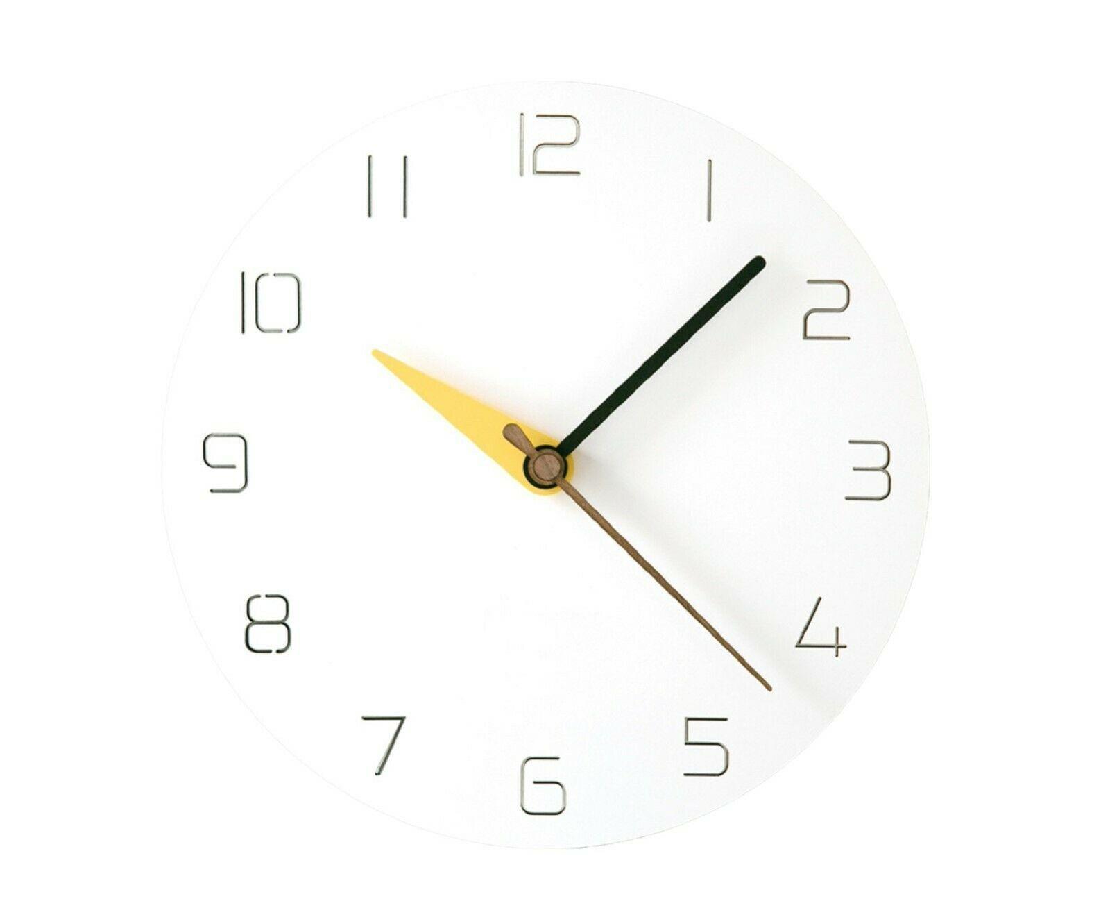 Moro Design 3 Color Hands Wall Clock non Ticking Silent Clock (Classic Yellow)