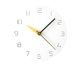 Moro Design 3 Color Hands Wall Clock non Ticking Silent Clock (Classic Yellow)