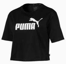 PUMA Women Cropped Logo Short Sleeve T-Shirt Black, White Sizes: S,M NWT - $27.71