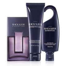 Avon Black Suede Essential For Men Trinity Gift Set  - $32.98