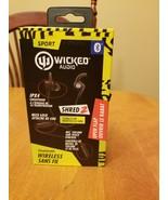 WICKED Audio SHRED 2 SPORT Bluetooth Wireless IPX4 Headphones NEW - $46.15