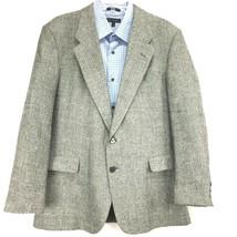 VARRA of ITALY Men's Sports coat 44R Linen Grey Herringbone - $38.54