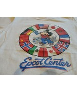 Vtg 80s White Disney Character Fashions Mickey Mouse EPCOT Center T-shir... - $34.64