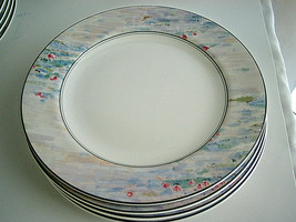 "4-pc Set Mikasa Maxima MONET CAK01 Salad Plates Pastels 8 1/4"" Never Used - $49.99"