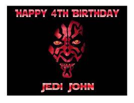 Star Wars Darth Maul Edible Cake Image Cake Topper - $8.98