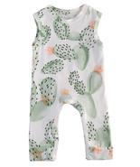 StylesILove Newborn Baby Toddler Cactus Pattern Sleeveless Summer Romper - $13.99