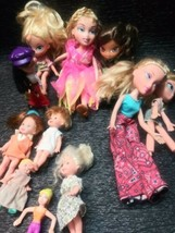 MIXED LOT OF 6 PREVIOUSLY PLAYED WITH BRATZ KIDZ DOLLS LOT AND MINI DOLL - $8.99