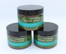 x3 Bath and Body Works Aromatherapy Eucalyptus Spearmint Stress Body Scrub 13 oz - $57.99