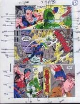 Original 1990's Avengers Wonder Man vs Captain Marvel comic book color g... - $99.50