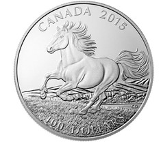 CANADA 2015 $100 PROOF SILVER IRON HORSE S11385-A25 - $143.55