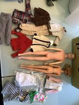 1962 Vintage Ken & Barbie Case & Francie Dolls With B/W Labeled Clothes - $197.99