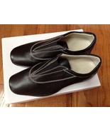 Ann Taylor Black Leather Loafer Women's Shoes Size 5.5M New - $38.61