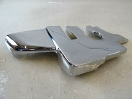 78 Mercedes R107 450SL trim, B pillar seat belt cover, left chrome 10769... - $65.44