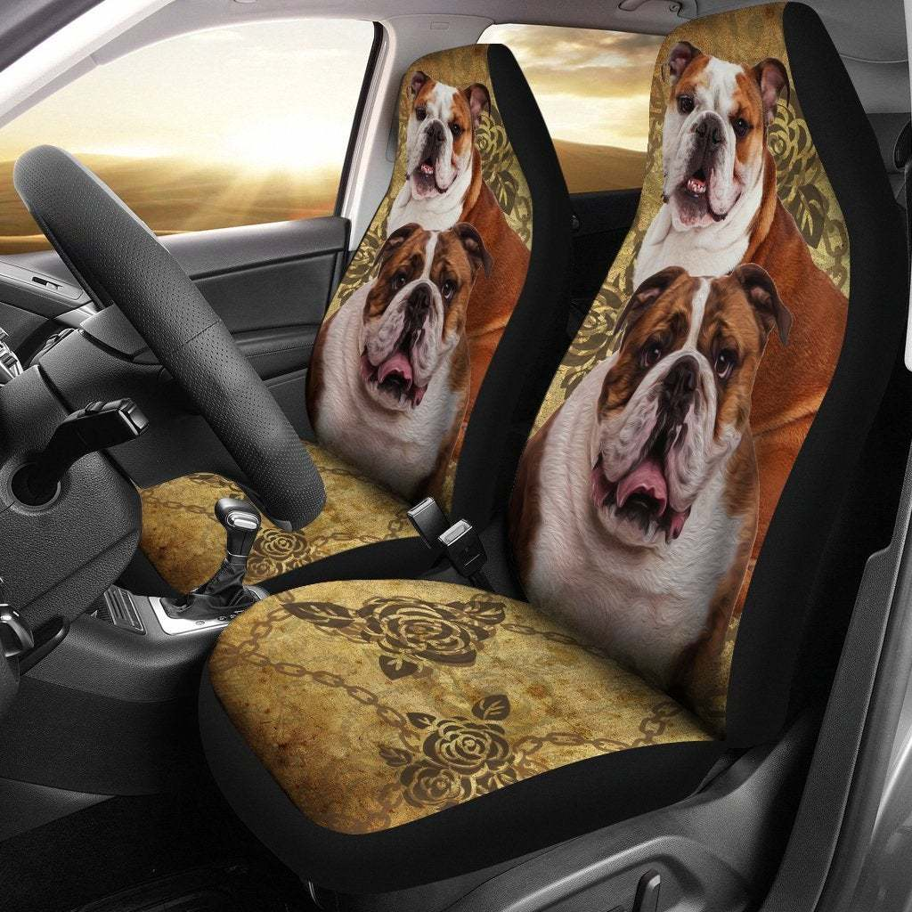 Bulldog Seat Covers Pair, 2 Front Car Seat Covers, Seat Cover for Car, Car Seat  - $59.95