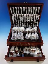 Chrysanthemum by Durgin Sterling Silver Flatware Set Service 107 Pcs K Monogram - $9,975.00