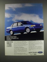 1991 Ford Tempo GLS Ad - Have you had yur vitamin V-6 today? - $14.99