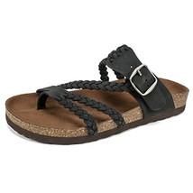 White Mountain Shoes Hayleigh Women's Sandal, Black/Nubuck, 7 M - $41.06