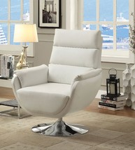 KULM CONTEMPORARY STYLE WHITE ACCENT CHAIR - $895.00