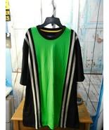 Blue Gear Men's T-shirt Sz XXL 2XL Green/Black White Stripes Crewneck NWT  - $8.90