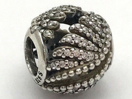 Authentic Pandora Majestic Feathers Sterling Silver Charm, 791749CZ, New - $52.24