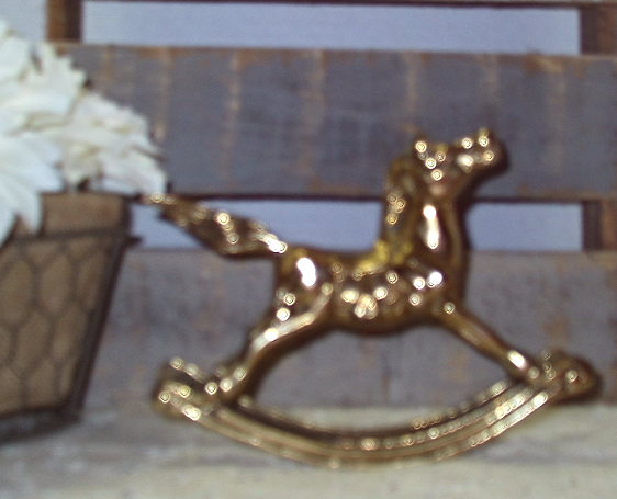 Vintage Mid Century Br Rocking Horse And 11 Similar Items