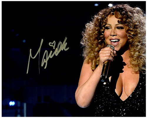 Primary image for MARIAH CAREY  Authentic Original SIGNED AUTOGRAPHED PHOTO w/ COA 251