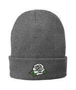 Trendy Apparel Shop Single White Rose Embroidered Winter Knitted Long Be... - $14.99