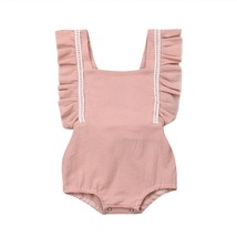 Princess Newborn Baby Girl Summer Clothes Ruffle Romper Bodysuit Outfit ... - $7.99