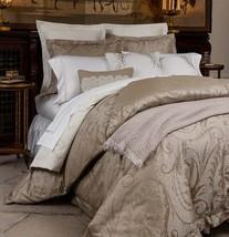 Sferra Ambra Queen Duvet Cover Shams 3 PC. Cotton Silk Jacquard Sateen Italy New - $529.00