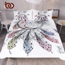 BeddingOutlet Moon Dreamcatcher Bedding Set Queen Size Feathers Duvet Cover - $44.46+