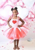 Valentines Day Tutu, Pink Valentines Day Hearts Tutu, Cupid Tutu Dress - $40.00+