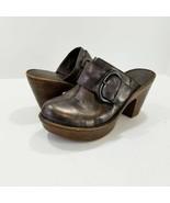 Born 'Ibra' Platform Slide Clogs Moro Metallic Leather US 7 LN Condition! - £30.78 GBP