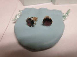 """Costume Jewelry ,Vintage , Ross Simmons , Red Stone , Earrings , 1/2"""" X ... - $25.00"""
