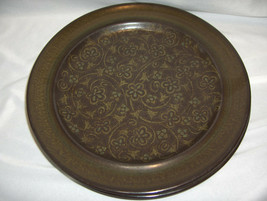 2 Vintage Dinner Plates Franciscan China Pottery Brown Madeira California - $19.79