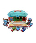 Thomas Take & Play Lot w Office Round House Station & 9 Diecast Trains *... - $24.49